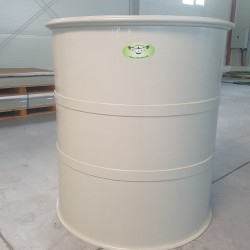 Potravinárska nádrž PTN 1000l  Stojatá zváraná nadzemná plastová nádrž vyrobená z...